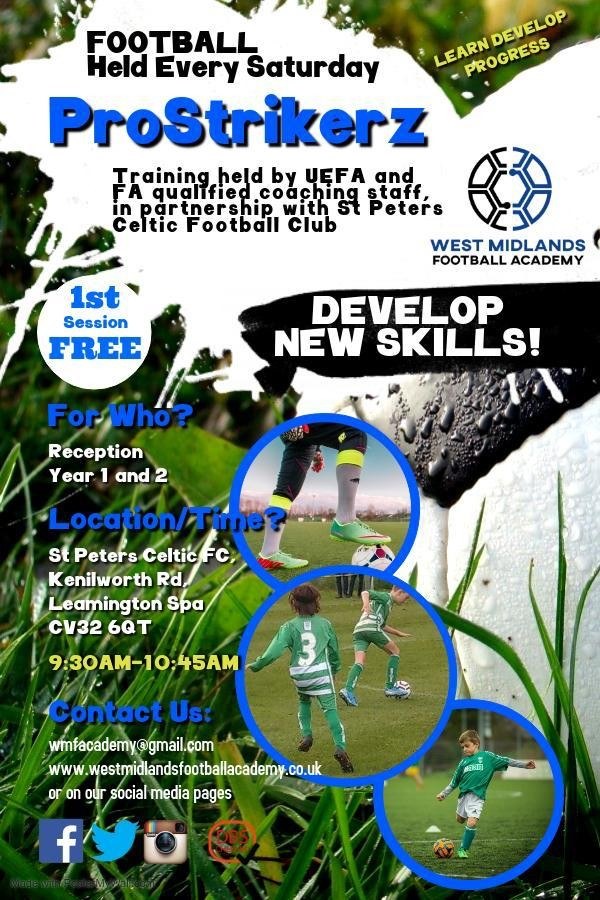ProSrikerz Year 1 & 2 Soccer Academy