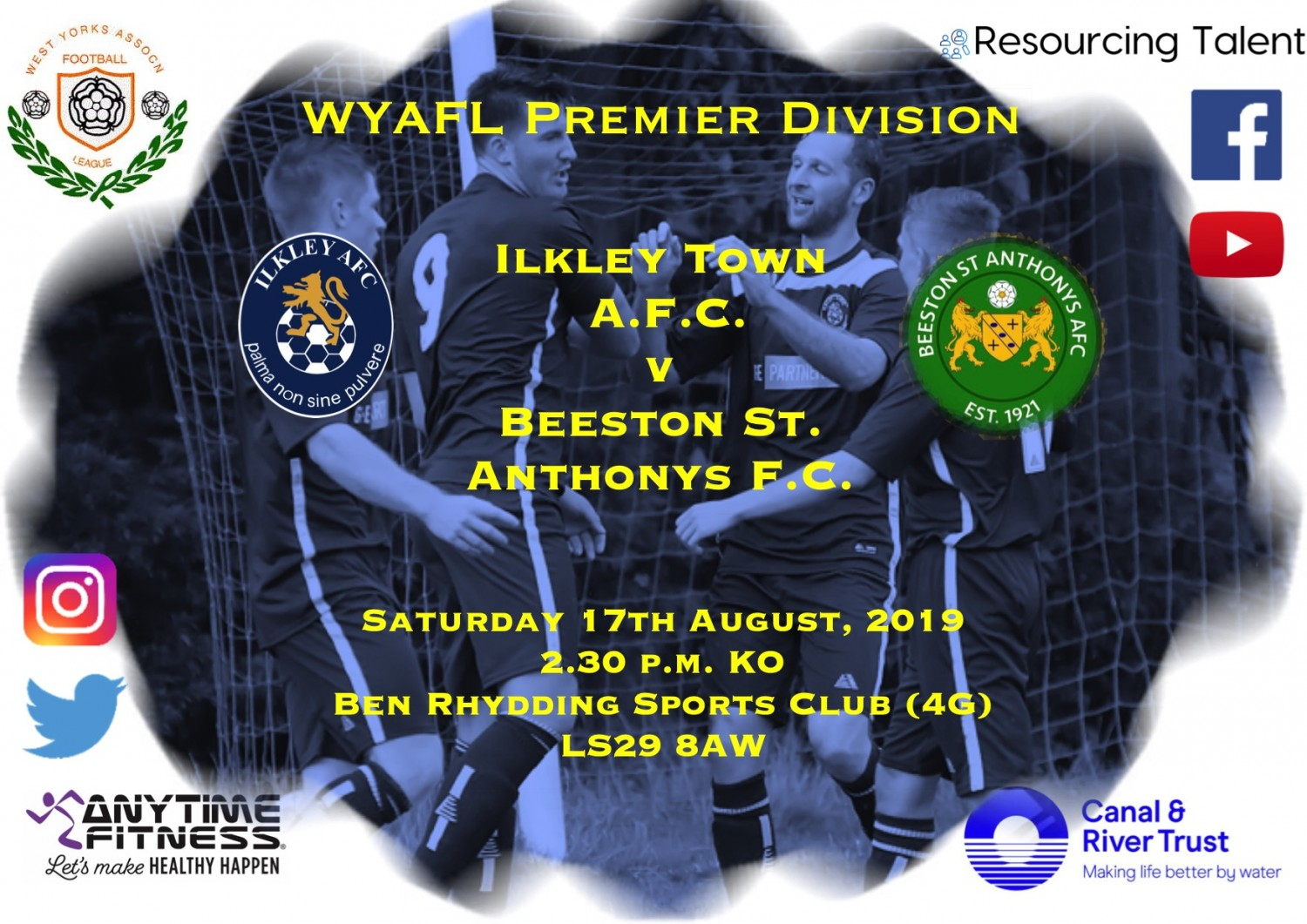 Match Preview: Ilkley Town AFC v Beeston St. Anthony's FC