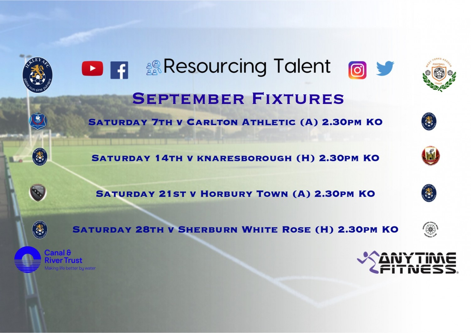 August Review & September Fixtures Released!