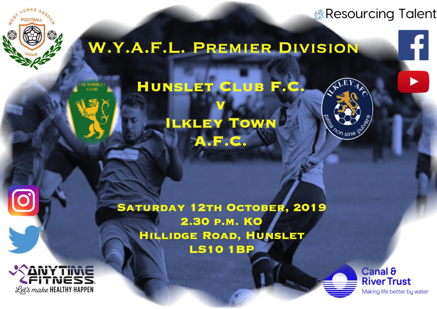 Match Preview: Ilkley Town AFC v Hunslet Club FC