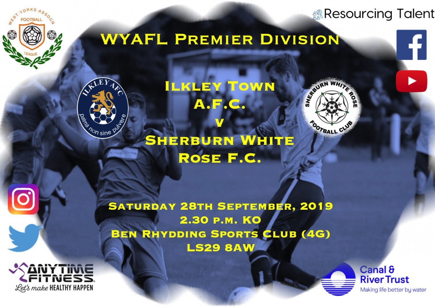 Match Preview: Ilkley Town AFC v Sherburn White Rose FC
